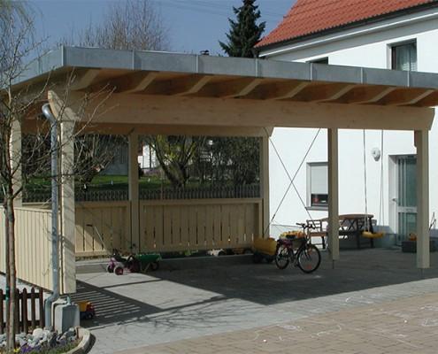 carport garage vordach holzbau hepp. Black Bedroom Furniture Sets. Home Design Ideas